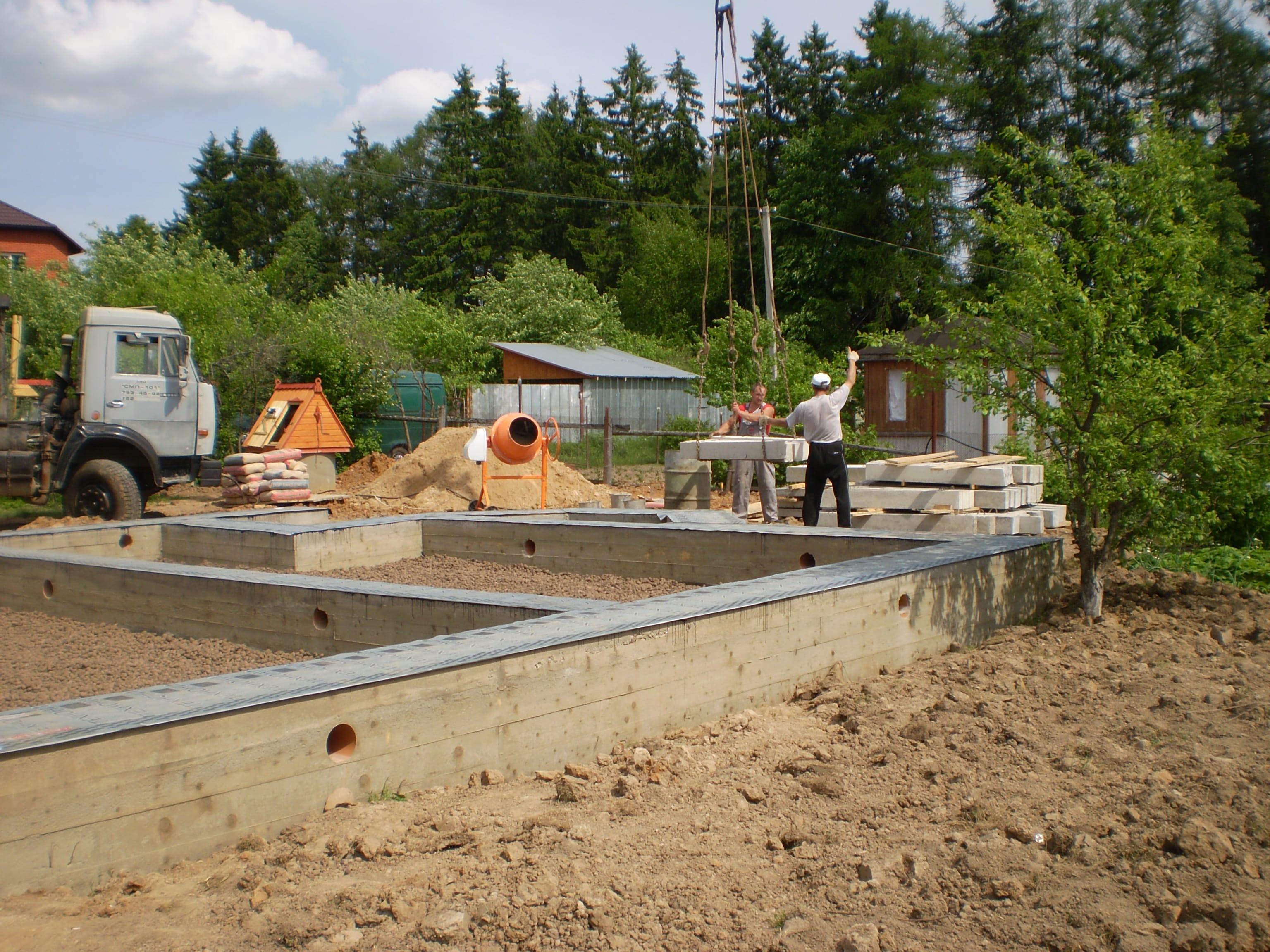 Как залить фундамент под строительство дома 45